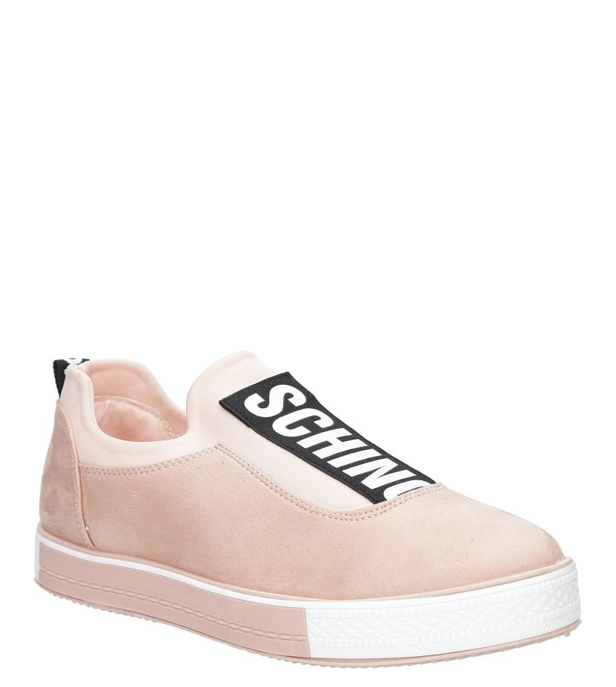 Różowe buty sportowe creepersy na platformie Casu SG-35