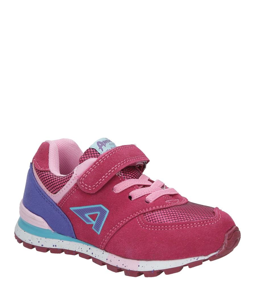 Różowe buty sportowe na rzep American K15110G-1