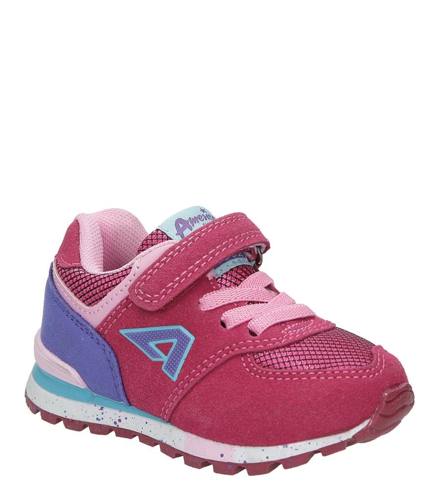 Różowe buty sportowe na rzep American K15110G-1 ciemny różowy