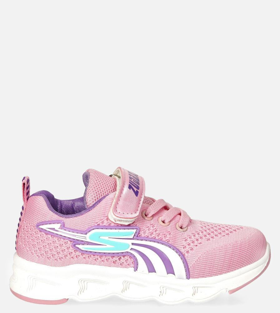 Różowe buty sportowe na rzep Casu 204/11M różowy