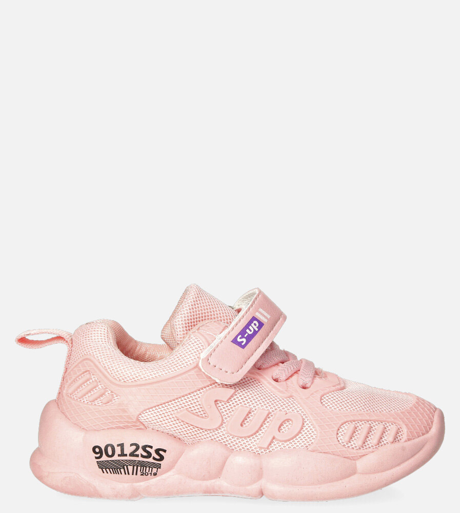 Różowe buty sportowe na rzep Casu 204/12M różowy