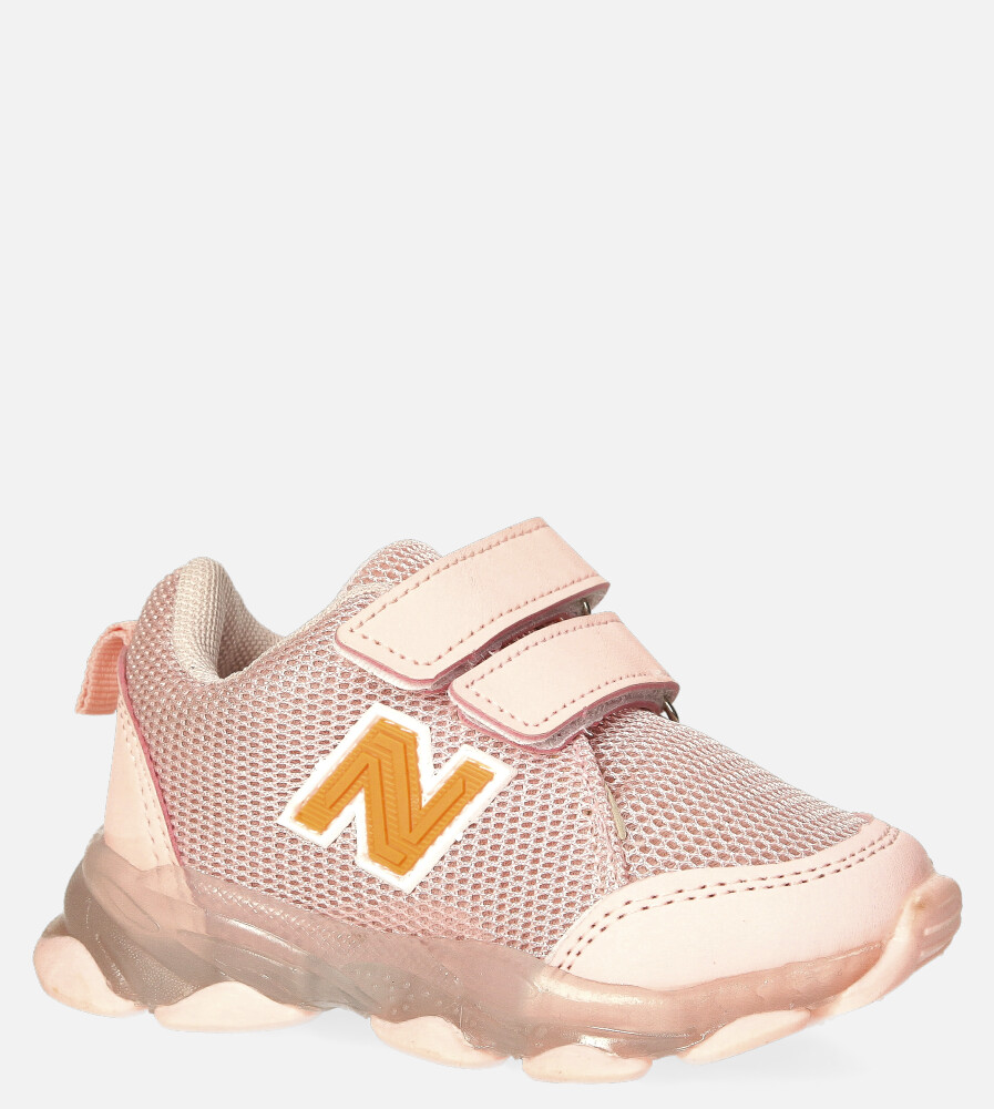 Różowe buty sportowe na rzep Casu 204/14M różowy