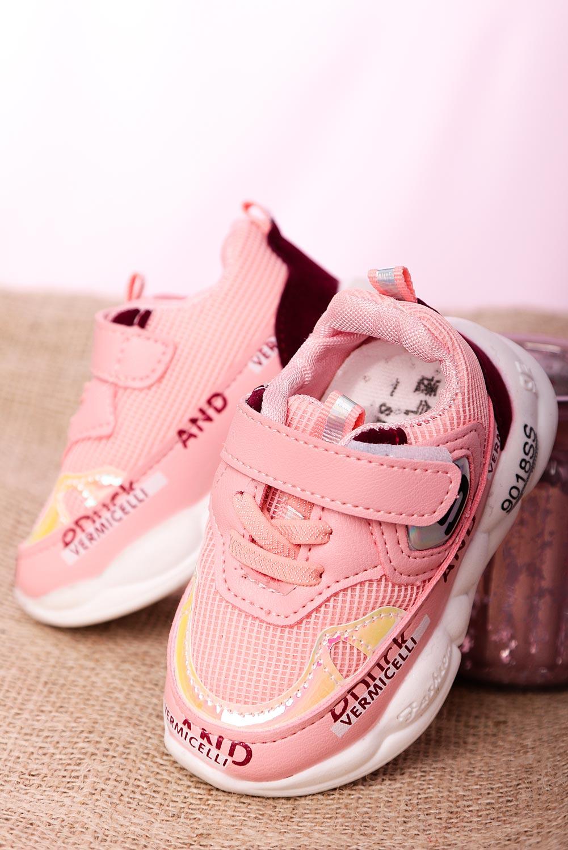 Różowe buty sportowe na rzep Casu 204/38M  różowy