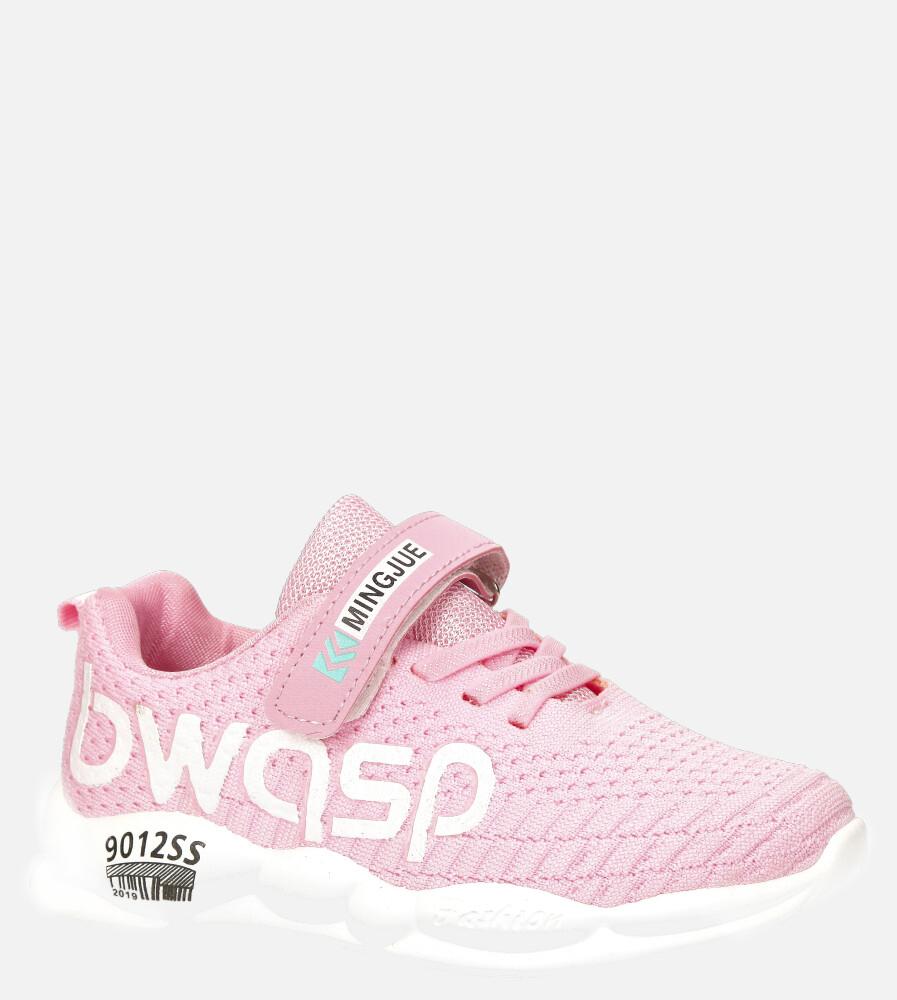 Różowe buty sportowe na rzep Casu 20P16/M różowy
