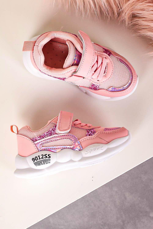Różowe buty sportowe na rzep Casu 20P9/M producent Casu