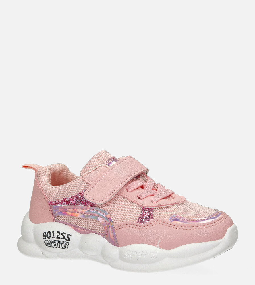 Różowe buty sportowe na rzep Casu 20P9/M model 20P9/M/B-2