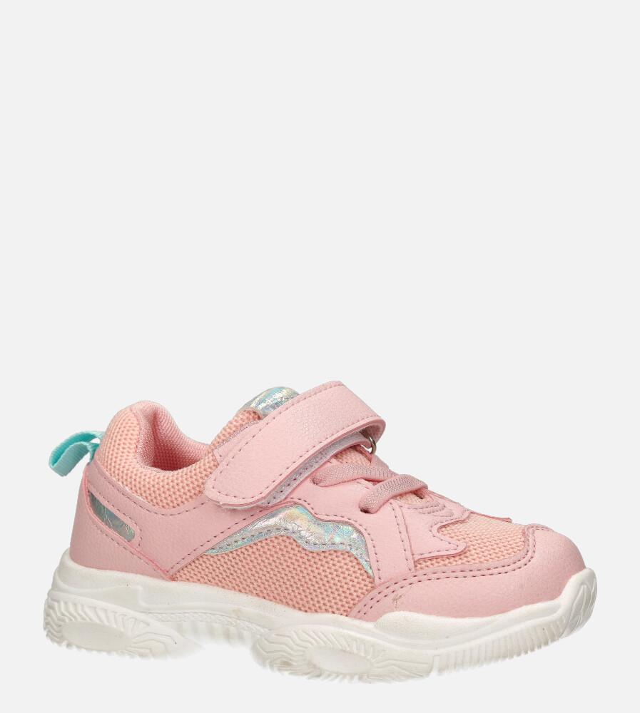 Różowe buty sportowe na rzep Casu 20T5/M różowy