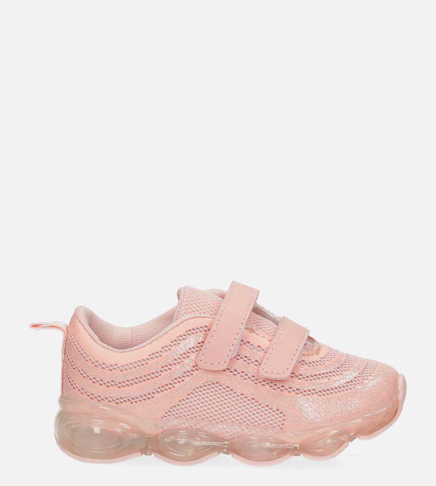 Różowe buty sportowe na rzep Casu 788-A różowy