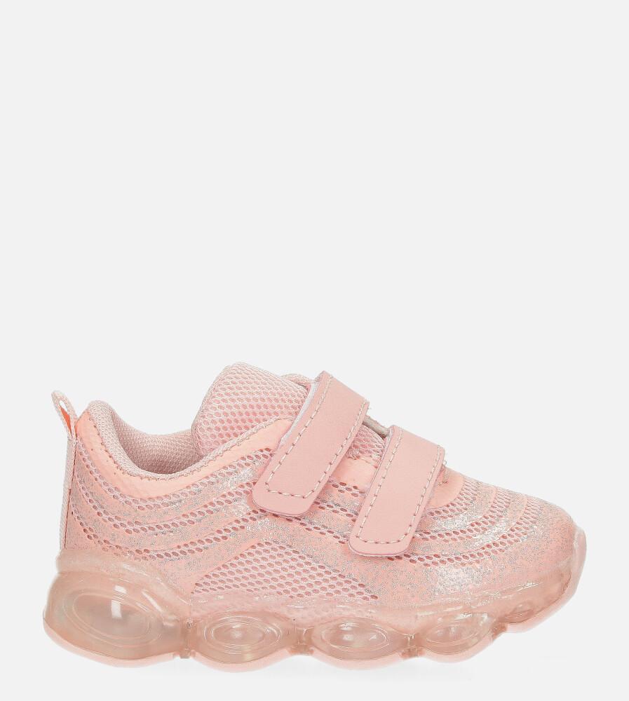 Różowe buty sportowe na rzep Casu 788-B różowy