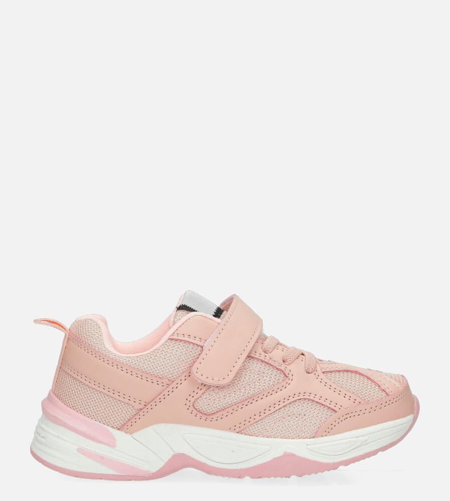 Różowe buty sportowe na rzep Casu CT3 różowy