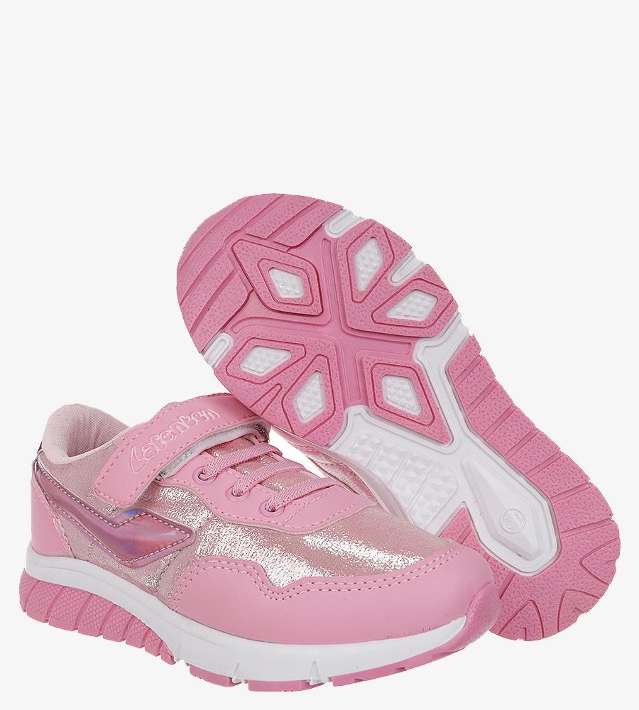 Różowe buty sportowe na rzep Casu D532-6 różowy