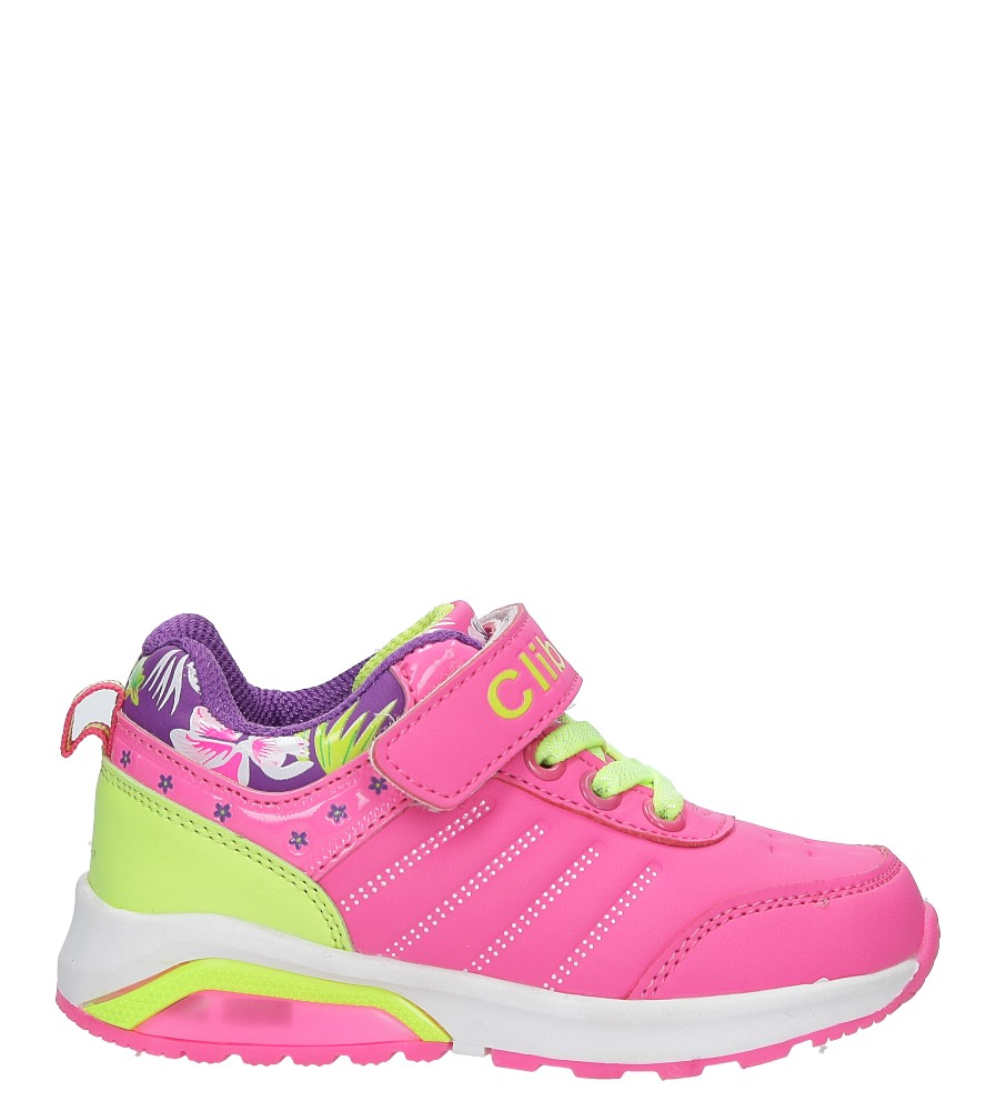Różowe buty sportowe na rzep ze skórzaną wkładką Casu F-622 różowy