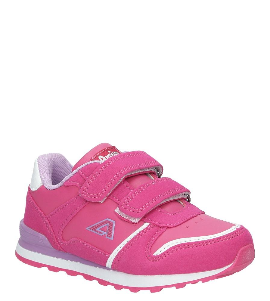Różowe buty sportowe na rzepy American 13 producent American