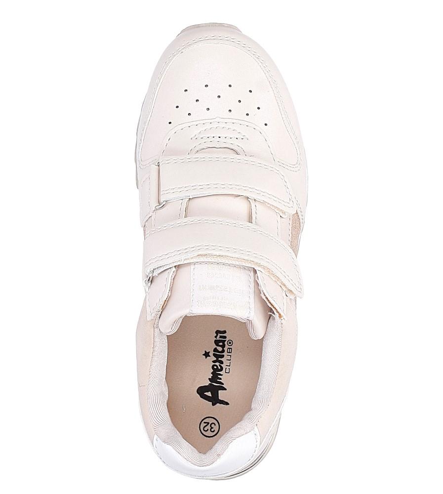 Różowe buty sportowe na rzepy  American K17362  wysokosc_platformy 1 cm