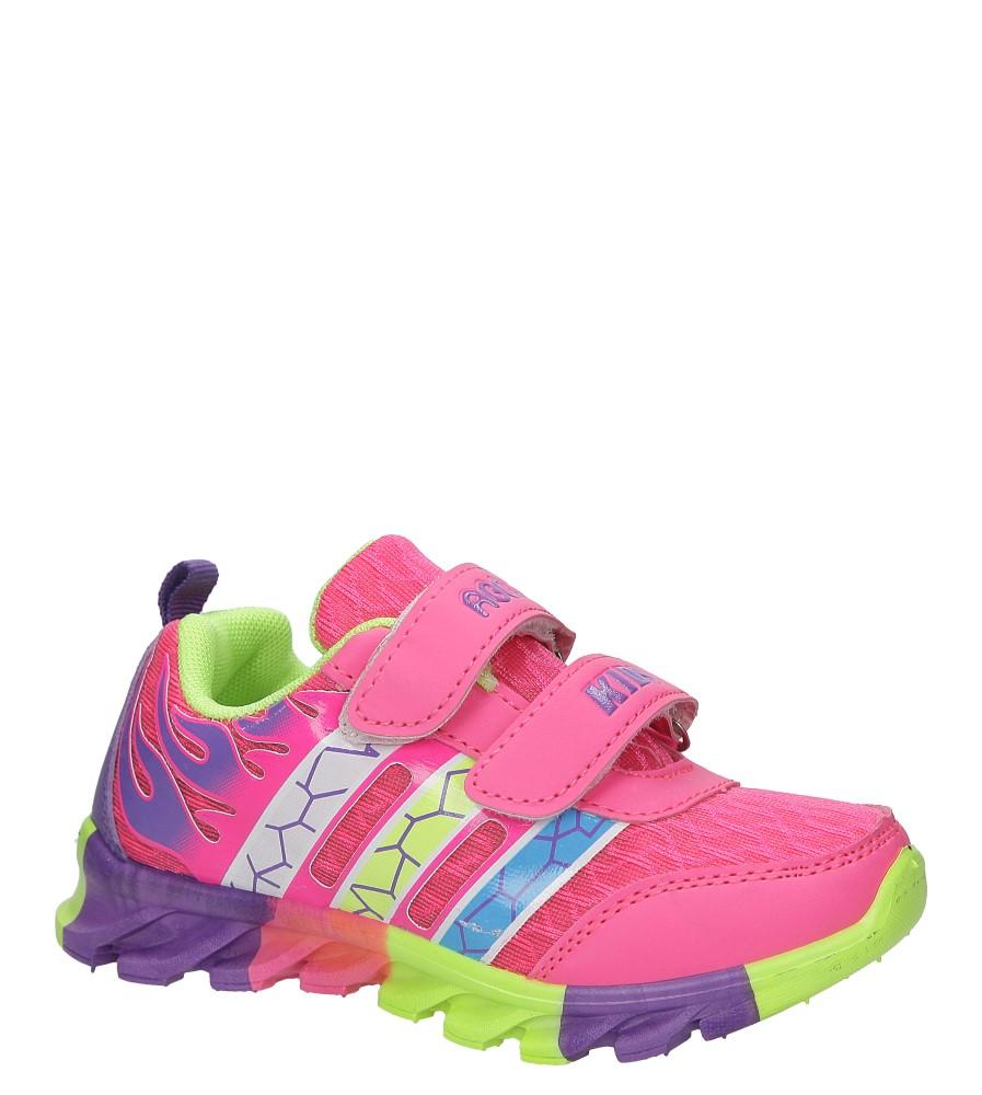 Różowe buty sportowe na rzepy Casu 3-6003 producent Casu