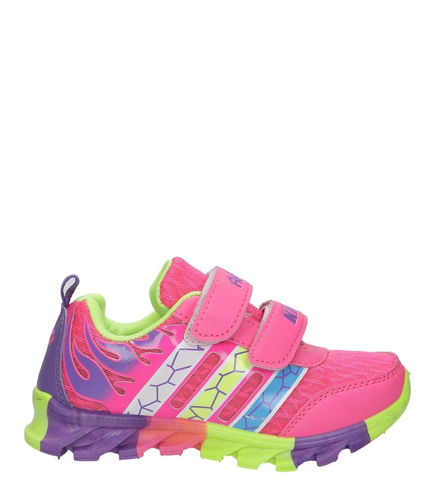 Różowe buty sportowe na rzepy Casu 3-6003