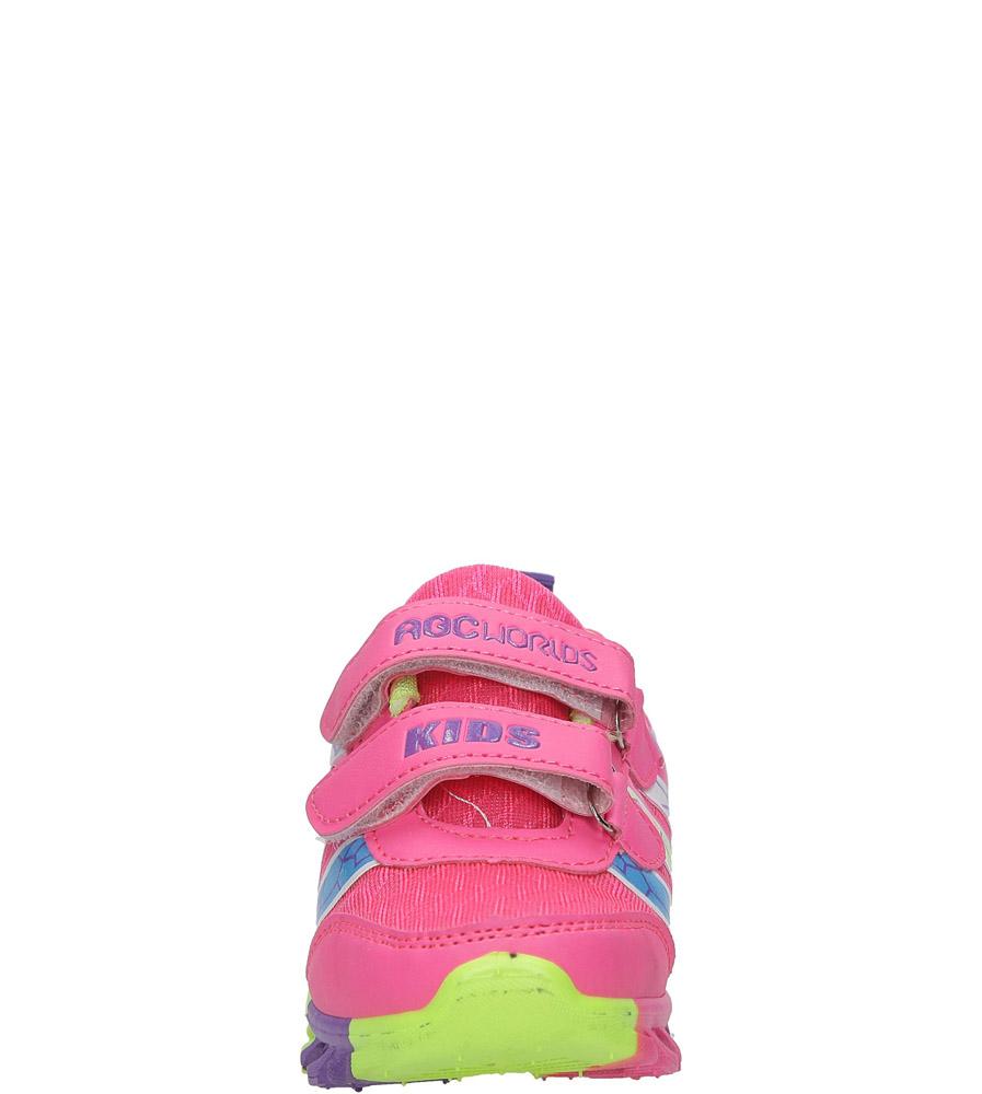 Różowe buty sportowe na rzepy Casu 3-6003 sezon Całoroczny