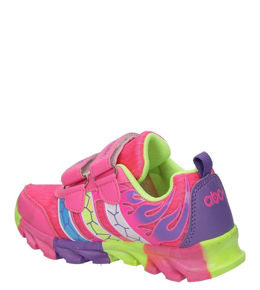 Różowe buty sportowe na rzepy Casu 3-6003 kolor różowy