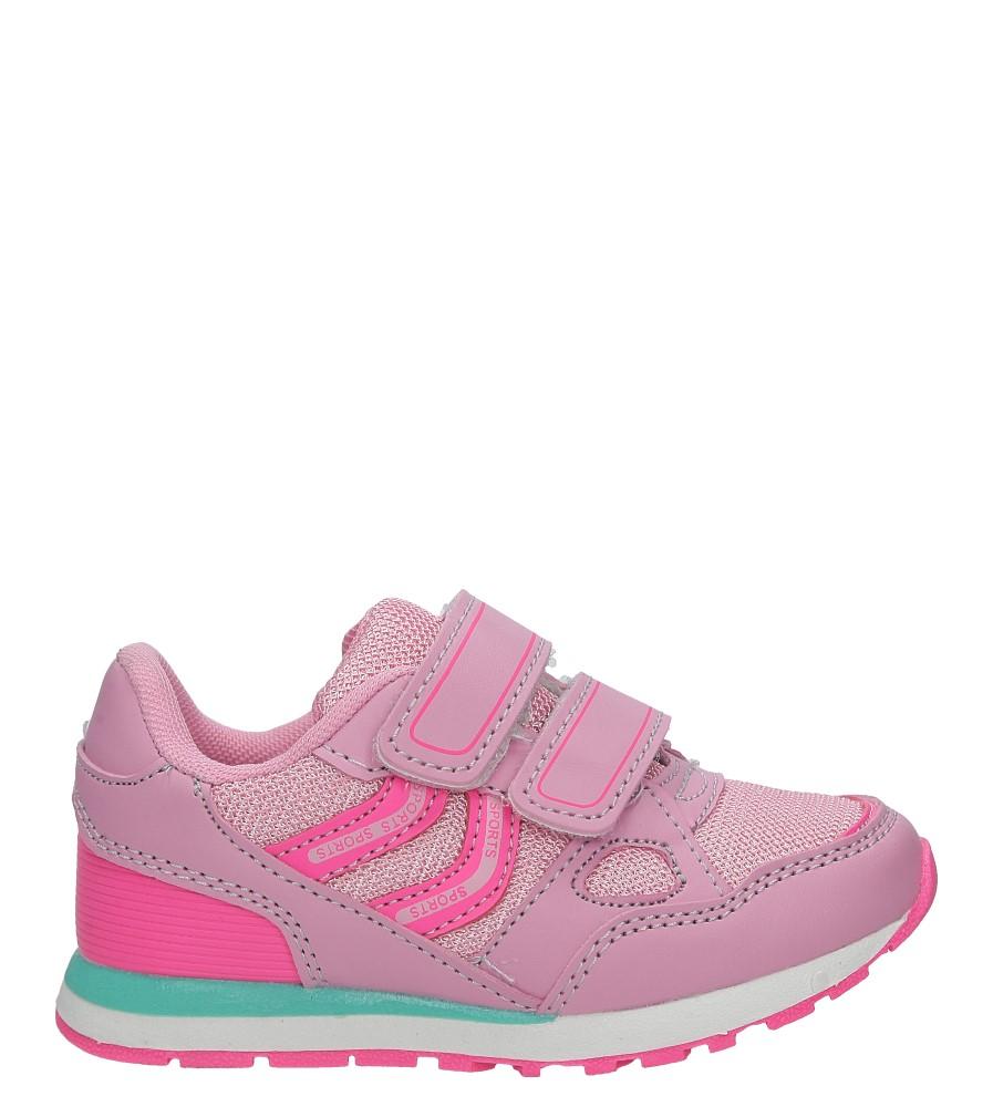 Różowe buty sportowe na rzepy Casu 5875A
