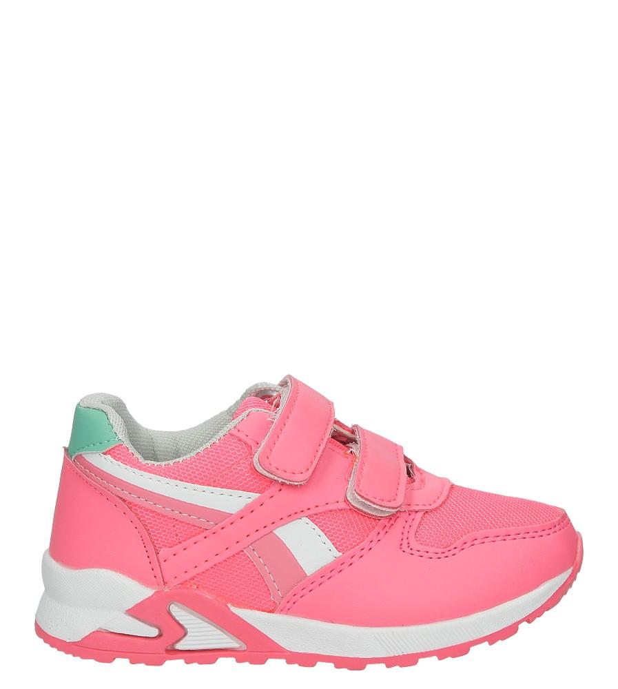 Różowe buty sportowe na rzepy Casu 723D-1