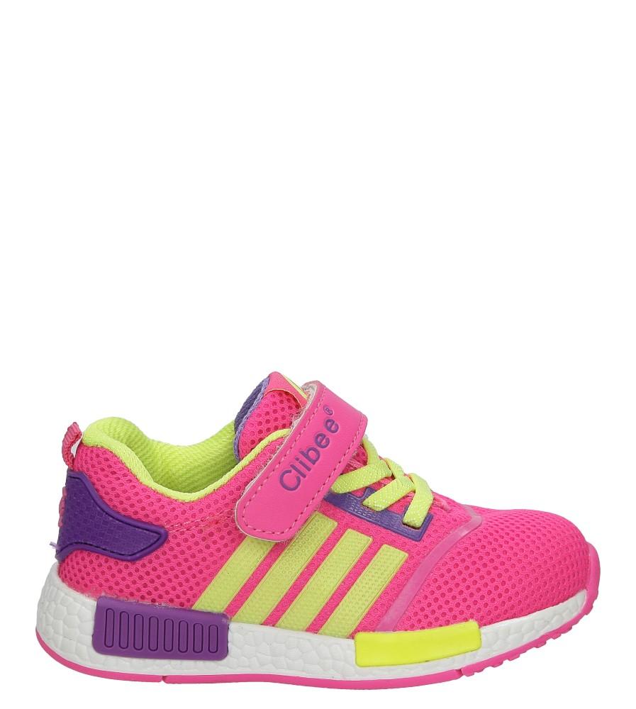 Różowe buty sportowe na rzepy Casu  F-617