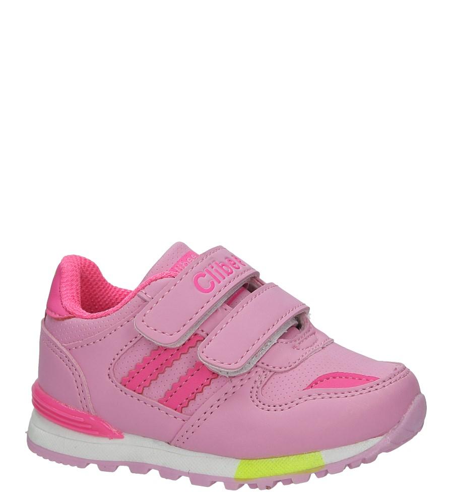 Różowe buty sportowe na rzepy Casu  F-627