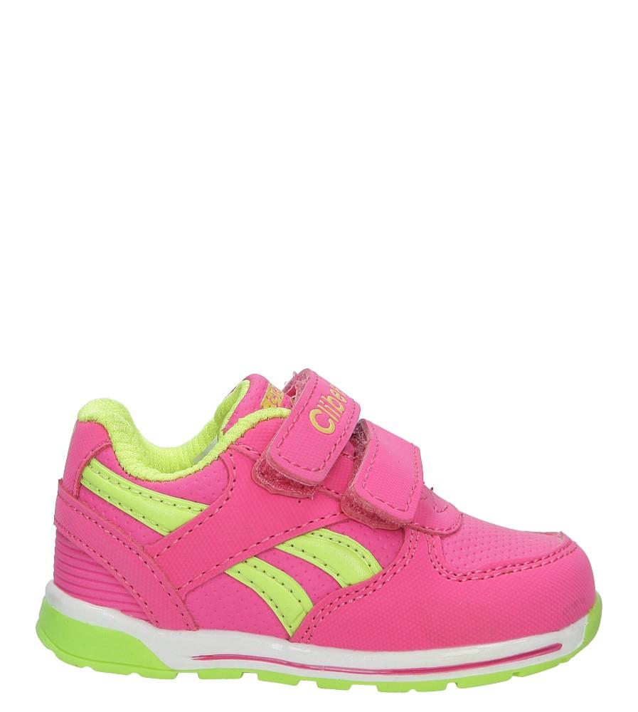 Różowe buty sportowe na rzepy Casu F-682