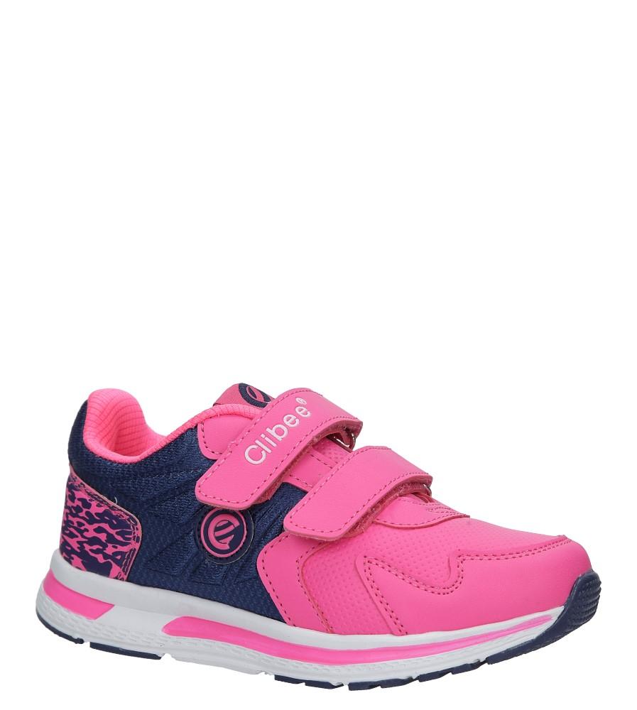 Różowe buty sportowe na rzepy Casu F-699