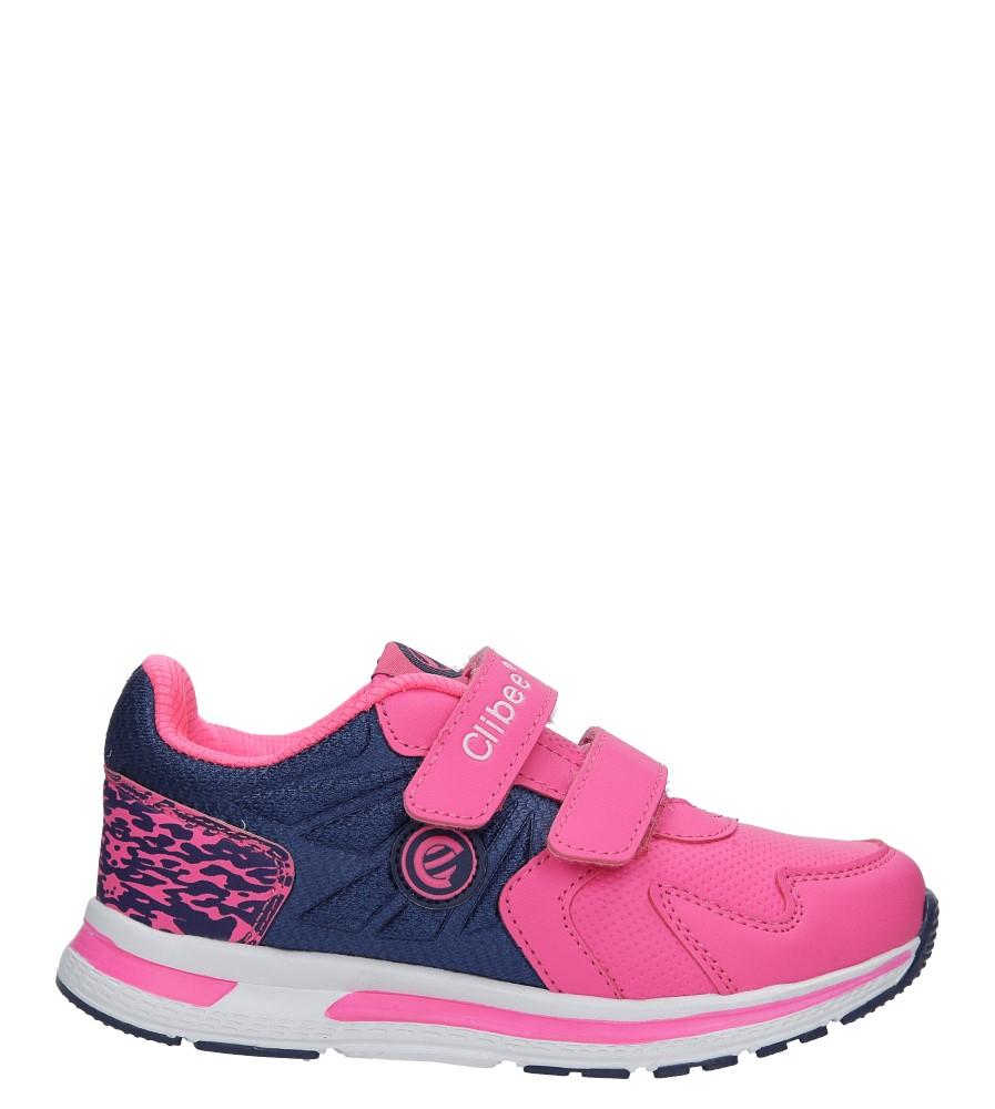 Różowe buty sportowe na rzepy Casu F-699 różowy