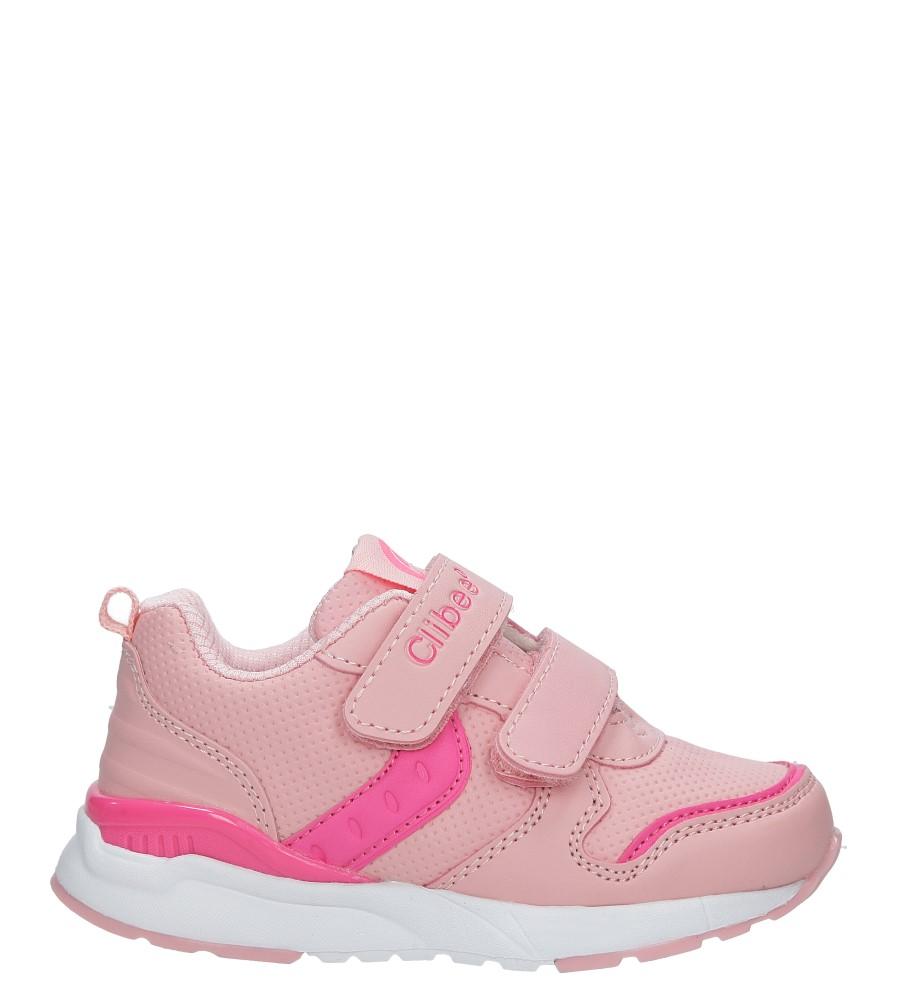 Różowe buty sportowe na rzepy Casu F-700
