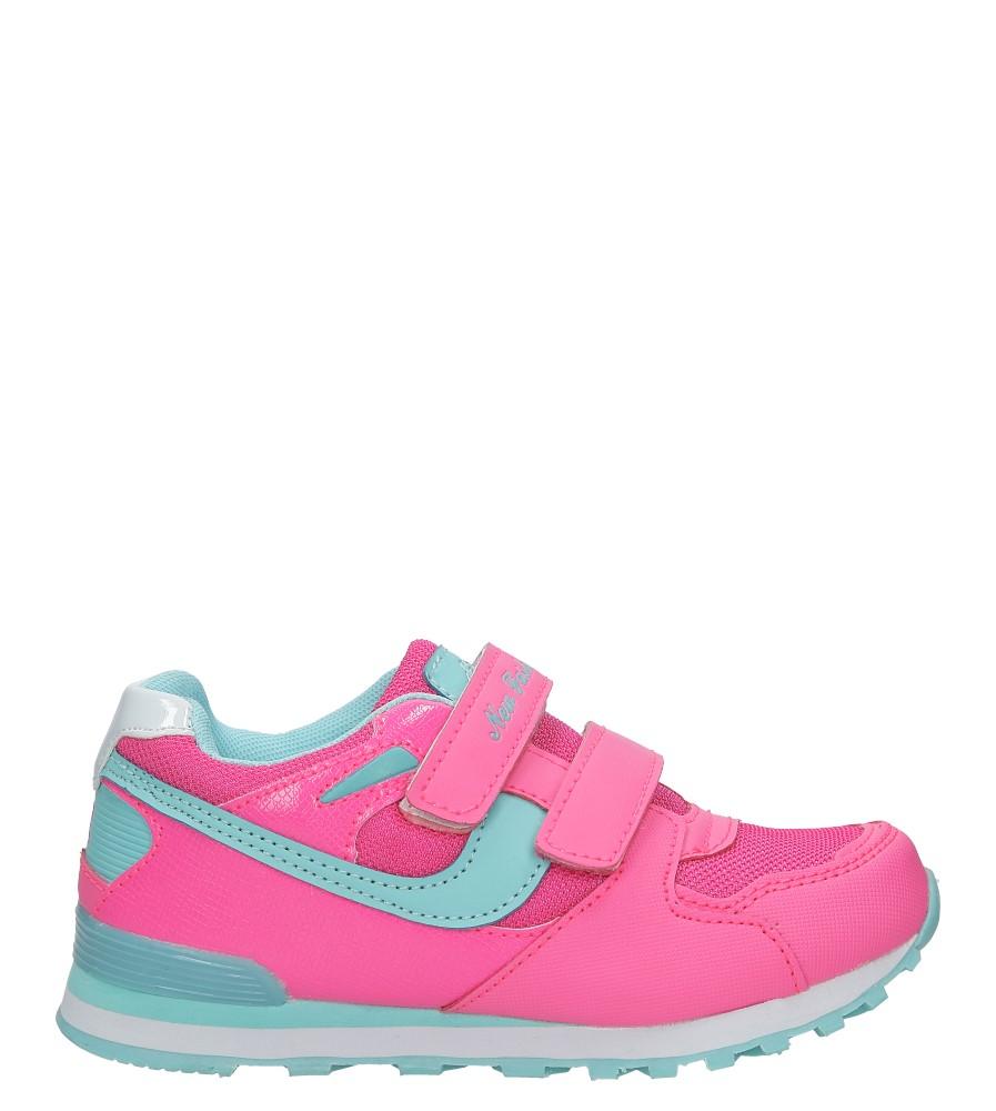 Różowe buty sportowe na rzepy Casu FA325L
