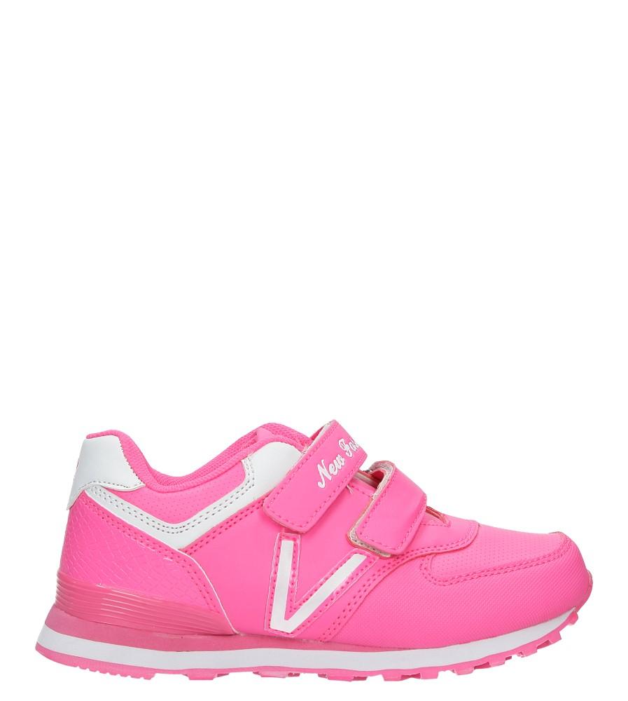 Różowe buty sportowe na rzepy Casu FA334N