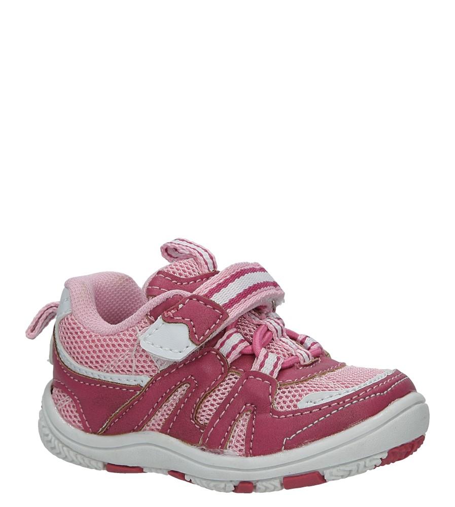 Różowe buty sportowe na rzepy Casu K-628 różowy