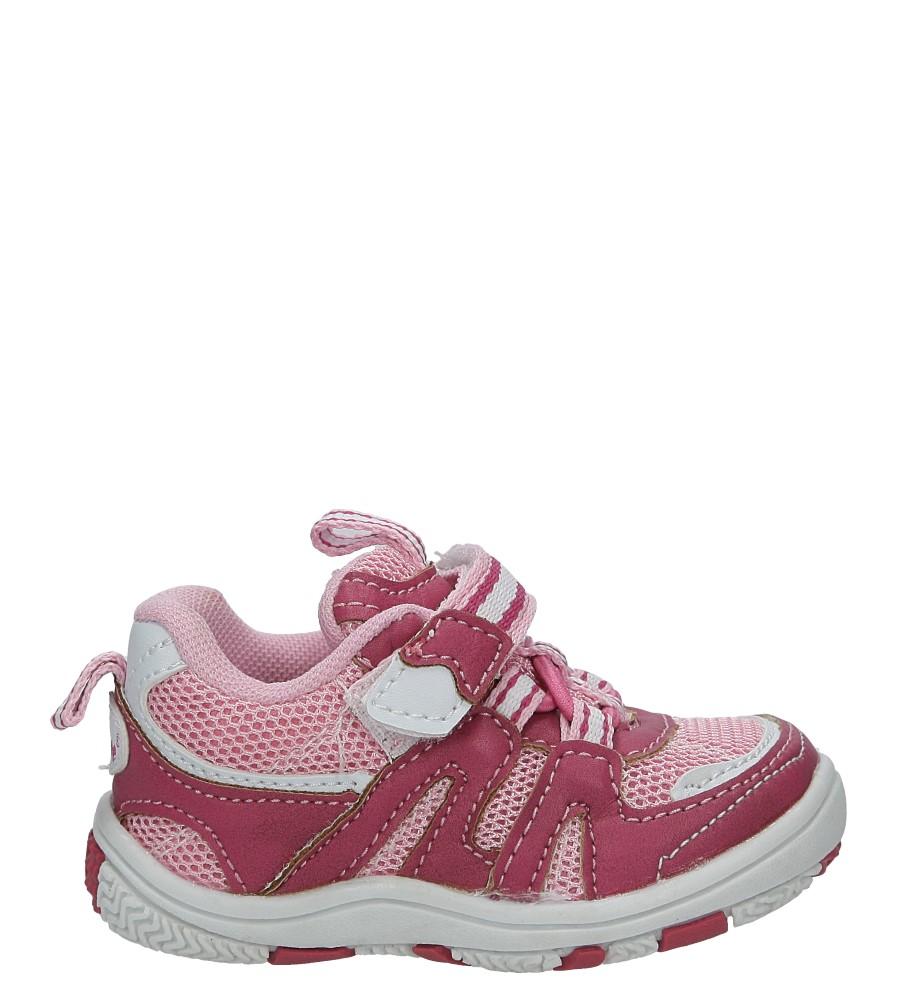Różowe buty sportowe na rzepy Casu K-628