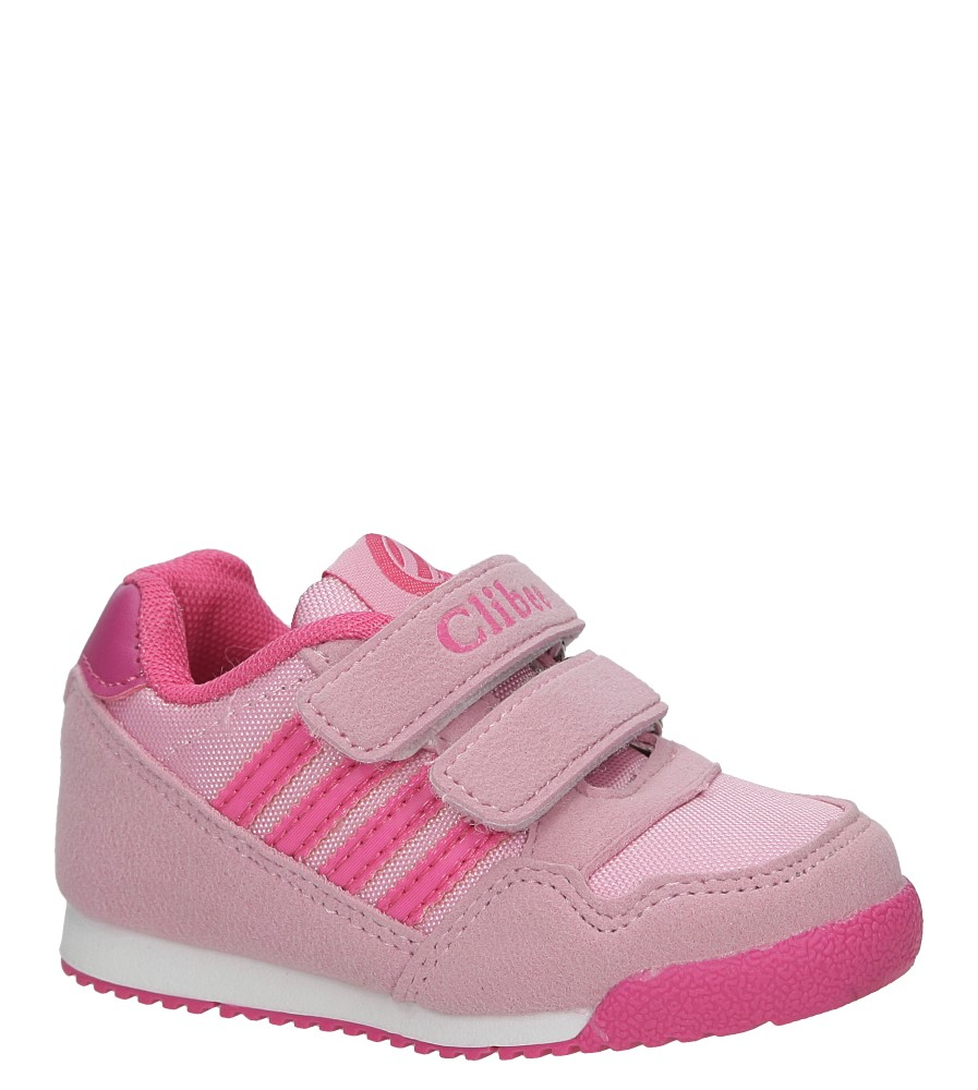 Różowe buty sportowe na rzepy Casu K127 różowy
