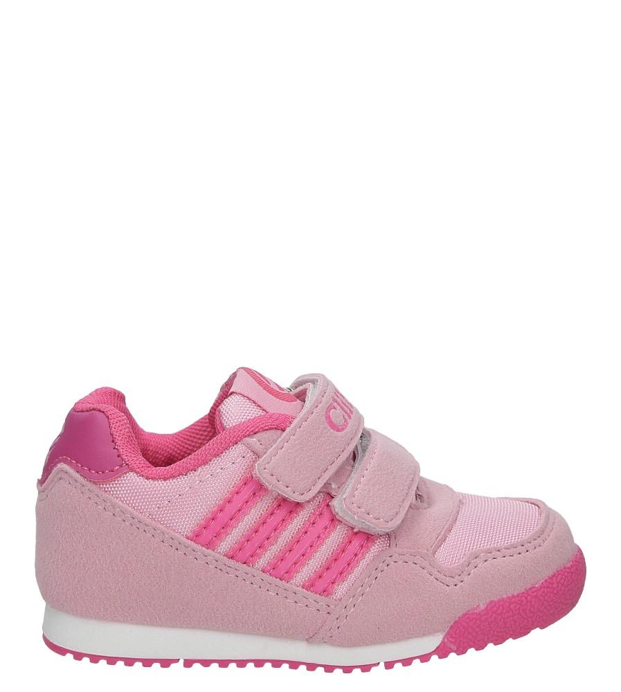 Różowe buty sportowe na rzepy Casu K127 model K127