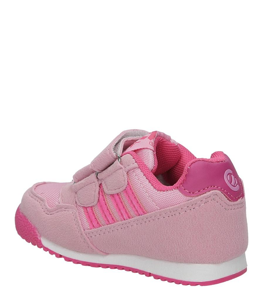 Różowe buty sportowe na rzepy Casu K127 kolor różowy