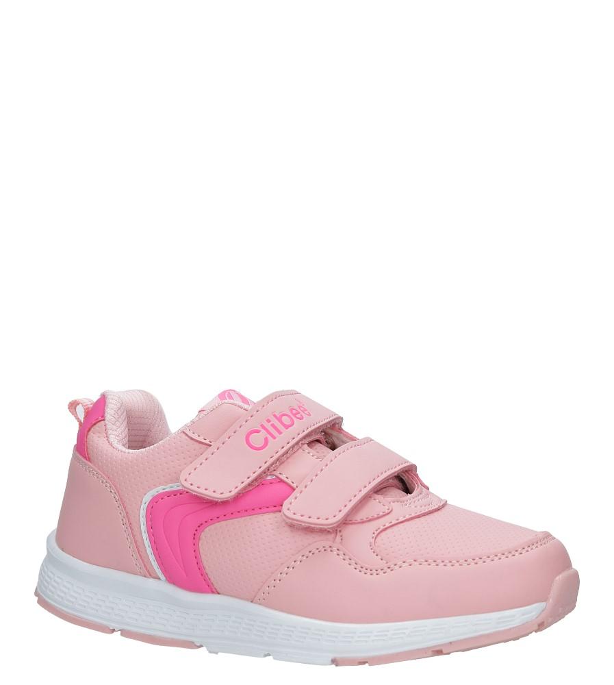 Różowe buty sportowe na rzepy ze skórzaną wkładką Casu F-697