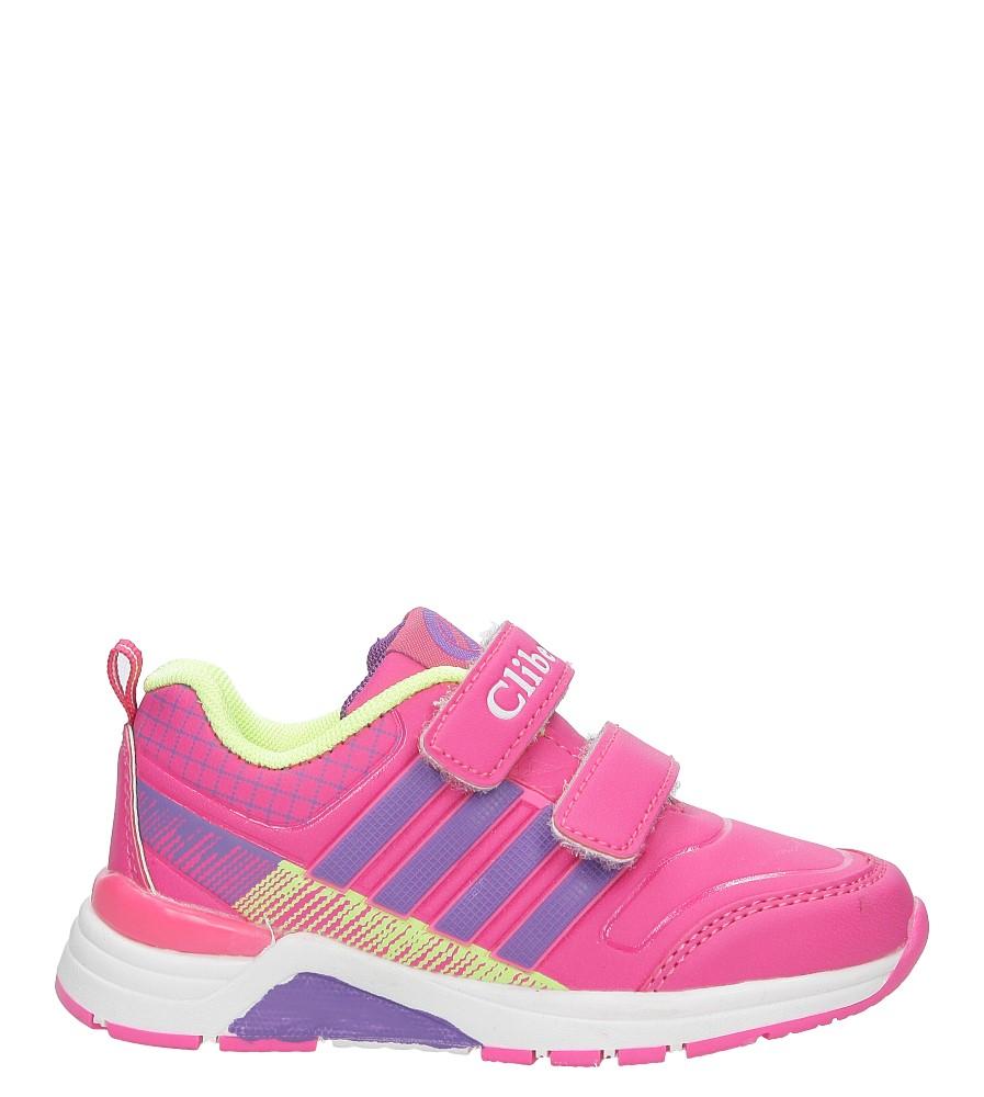 Różowe buty sportowe na rzepy ze skórzaną wkładką Casu K-169