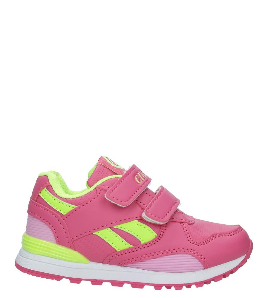 Różowe buty sportowe na rzepy ze skórzaną wkładką Casu K-185