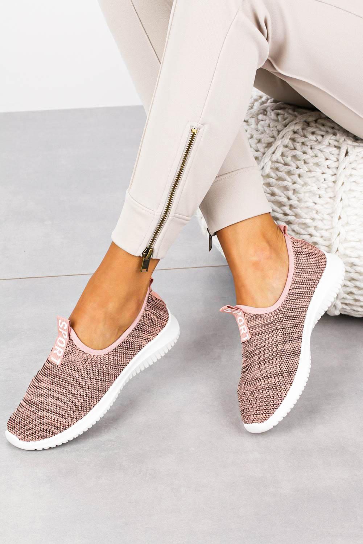 Różowe buty sportowe slip on Casu B68-7 różowy