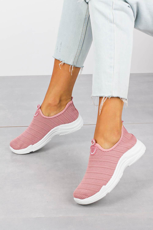 Różowe buty sportowe slip on Casu YZ07-5