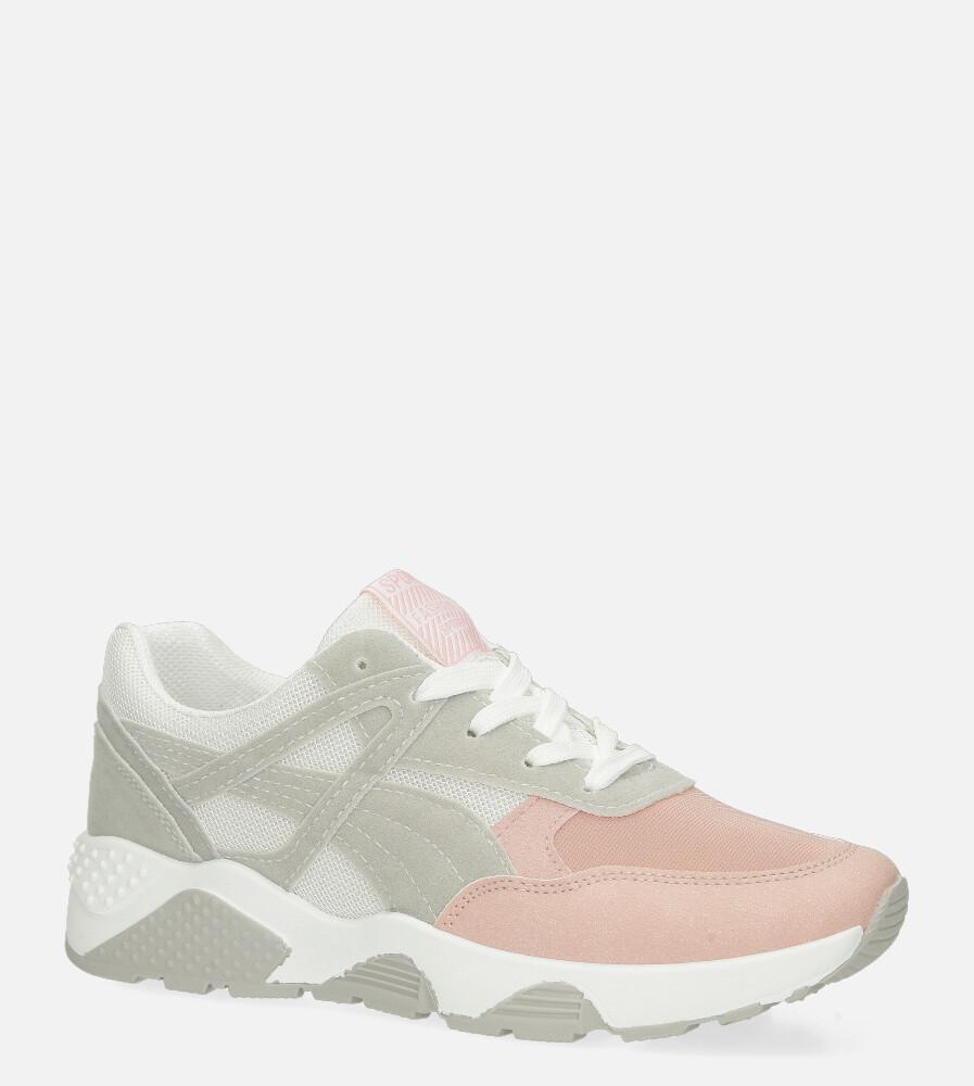 Różowe buty sportowe sneakersy sznurowane Casu 20G13/P różowy