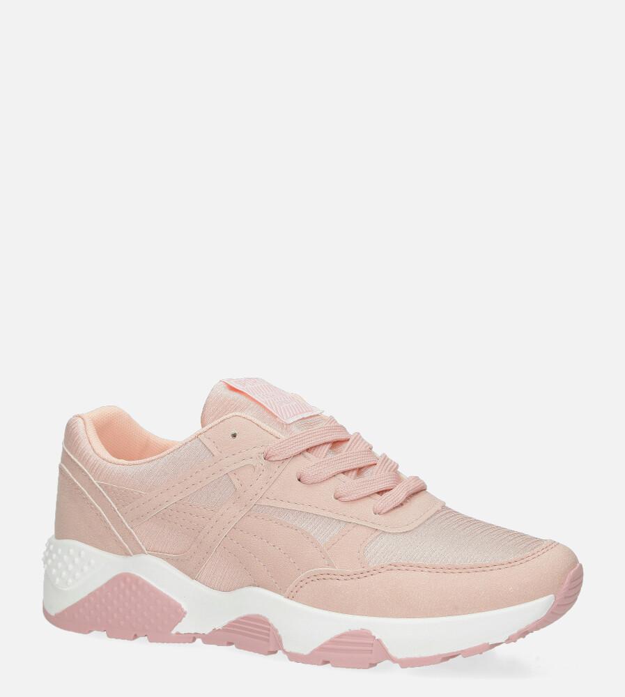 Różowe buty sportowe sneakersy sznurowane Casu WL-9