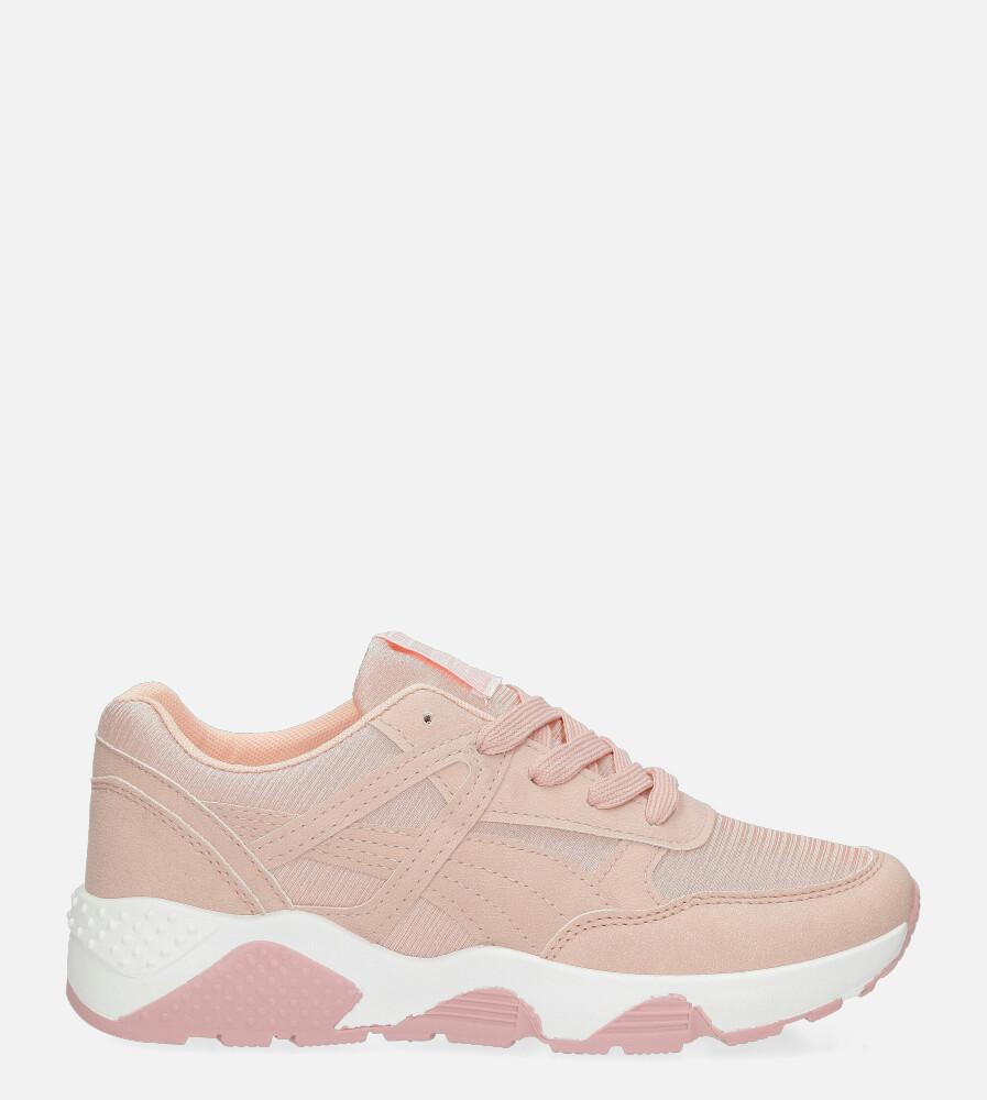 Różowe buty sportowe sneakersy sznurowane Casu WL-9 różowy