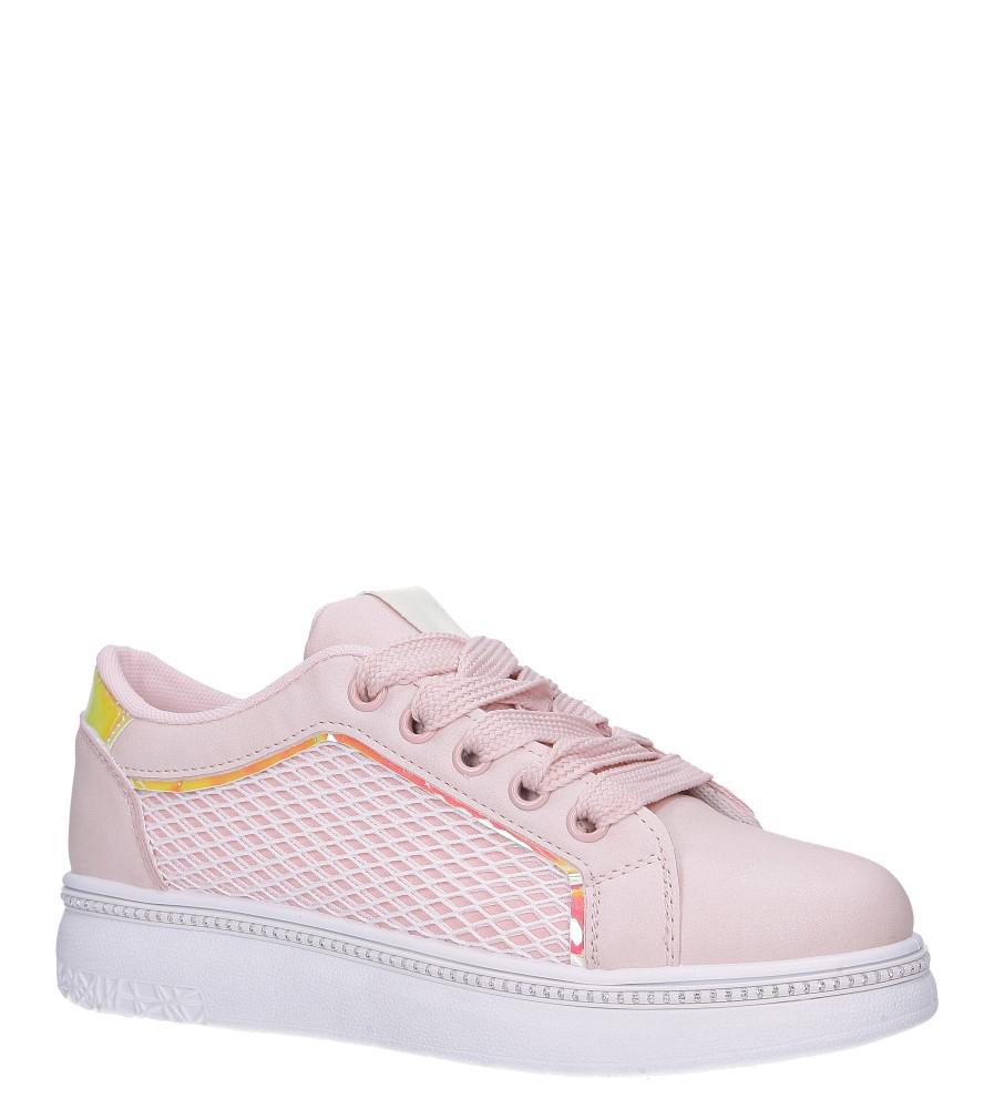 Różowe buty sportowe sneakersy sznurowane z siateczką Casu 7-K682C różowy