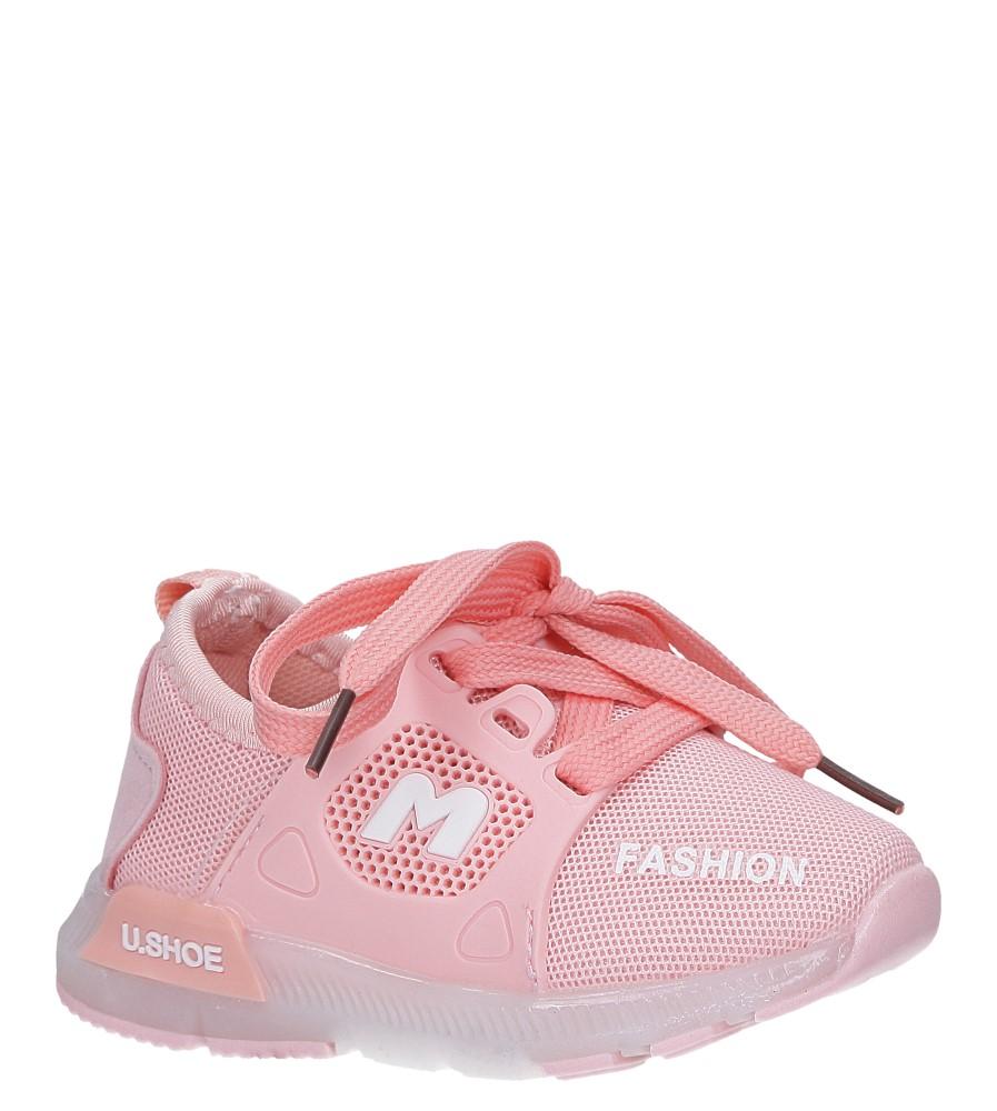 Różowe buty sportowe świecące led sznurowane Casu 332