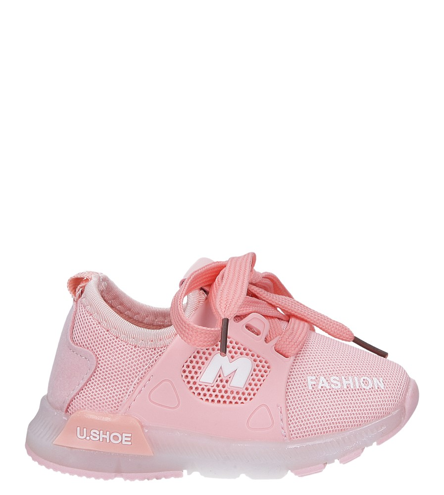 Różowe buty sportowe świecące led sznurowane Casu 332 jasny różowy