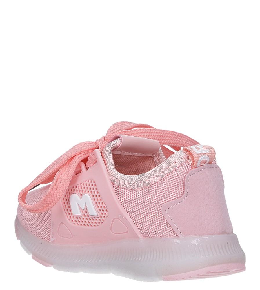 Różowe buty sportowe sznurowane Casu 332 sezon Całoroczny