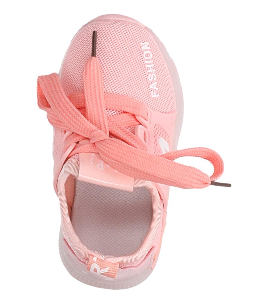 Różowe buty sportowe sznurowane Casu 332 kolor jasny różowy
